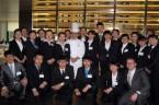 在洛桑酒店管理学院米其林一星餐厅(BDS Restaurant)体验并与主厨合影